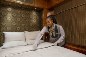 The Blue Train bedroom