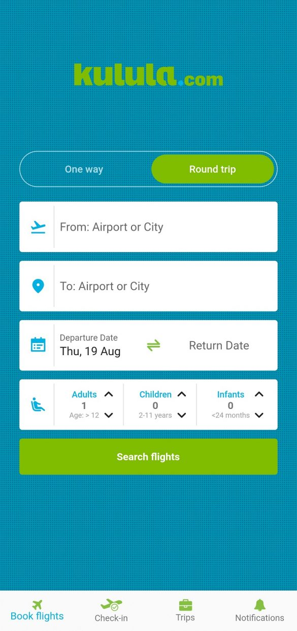 Kulula booking app